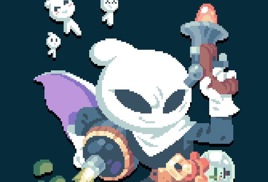 Pixel Art and Level Design of Flinthook